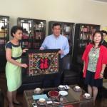 Delegacja z prowincji Baise