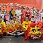 """Występ grupy """"Dragon and Lion Dance Art Troupe""""."""