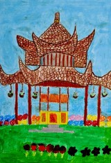 <strong>Instytut Konfucjusza przedstawia wyniki konkursu rysunkowego dla dzieci Skarby architektury Chin</strong> (5/7)
